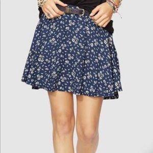 Denim and Supply Mini Floral Skirt